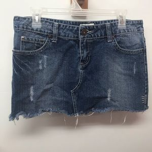 So denim mini skirt size 11